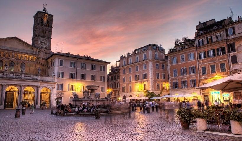 Bairro Trastevere em Roma