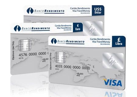 Cartão pré pago internacional da Cotação