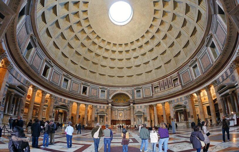 Panteão de Roma em Roma na Itália
