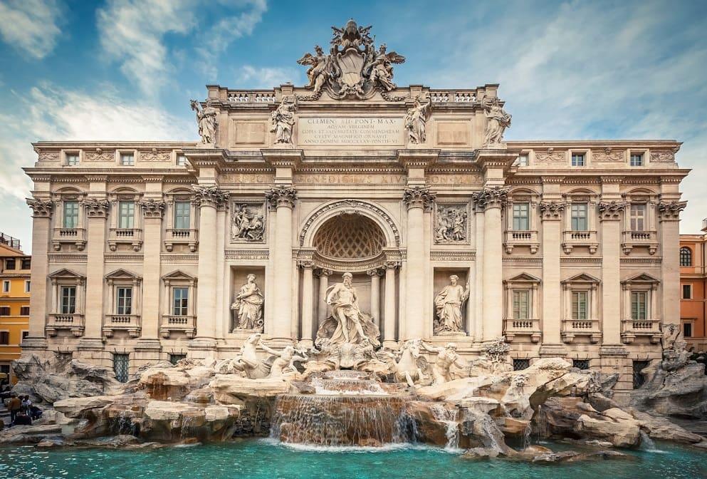 Fontana di Trevi em Roma na Itália