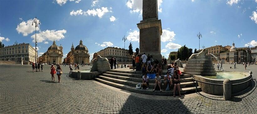 Atrações na Piazza del Popolo em Roma