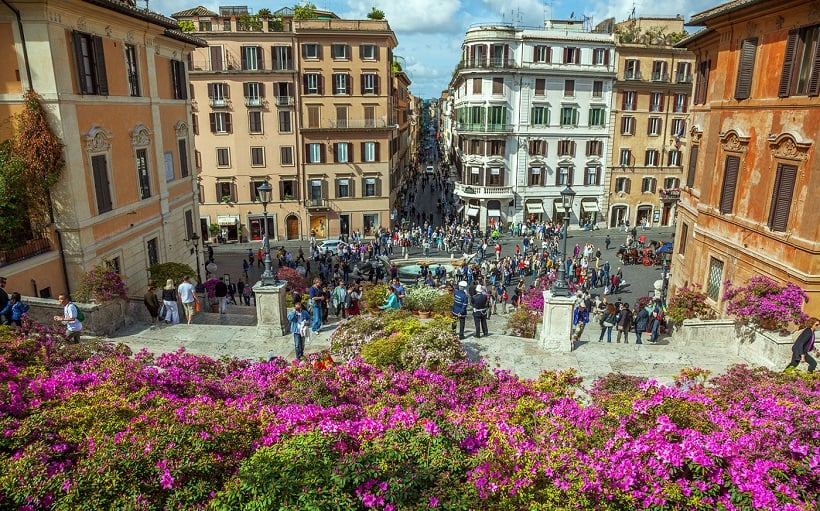 Piazza di Spagna em Roma na Itália