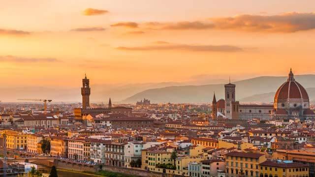 Vista de Florença ao entardecer