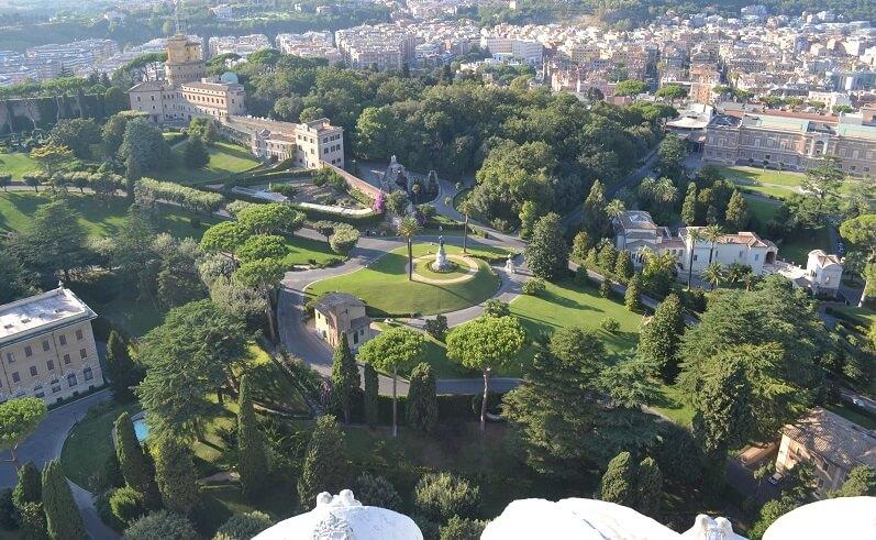 Jardins no Vaticano