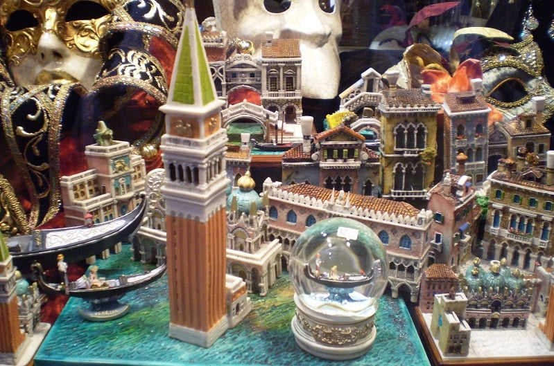 Souvenirs na Itália