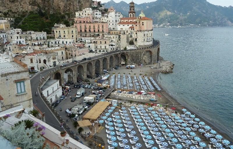 Atrani na Costa Amalfitana na Itália