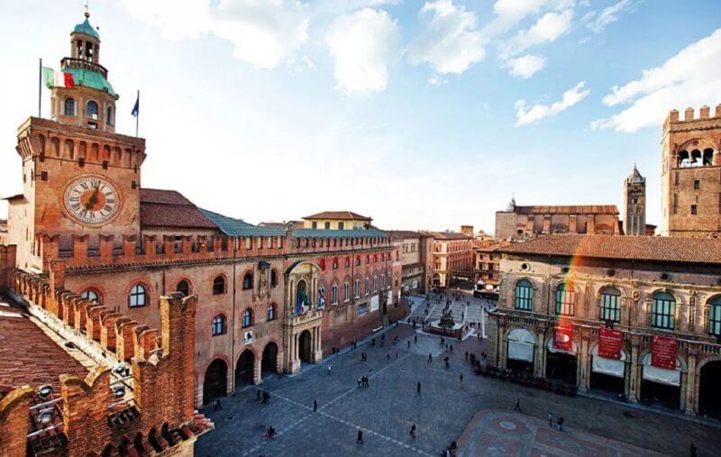 Paisagem de Bolonha na Itália