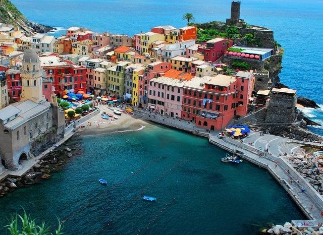 Pontos turísticos em Vernazza
