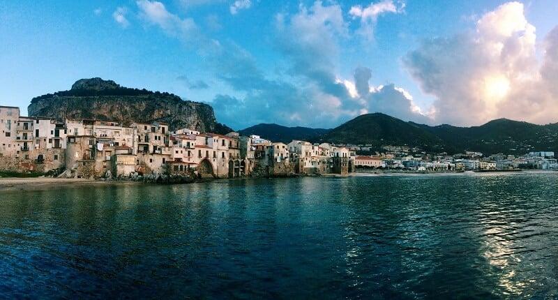 Vista de Sicília na Itália