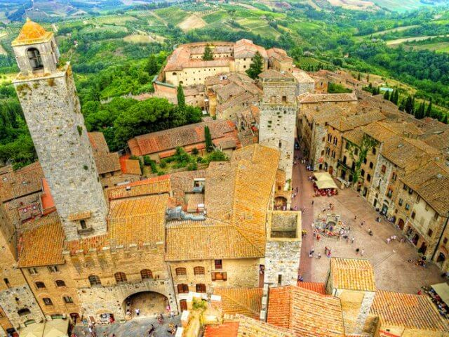 Pontos turísticos em San Gimignano