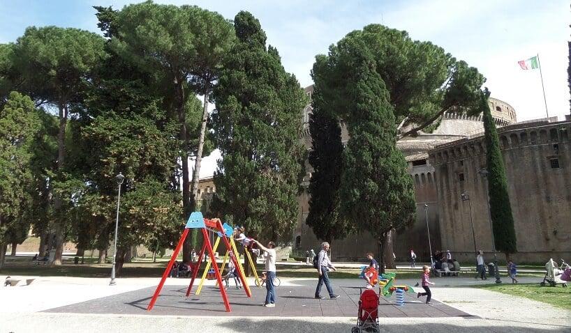 Parque Villa Borghese em Roma