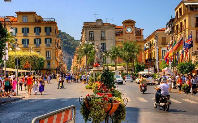 Piazza Tasso em Sorrento