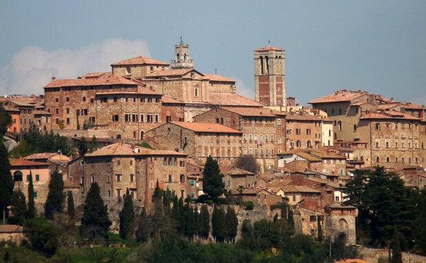 Vista de parte da cidade de Montepulciano