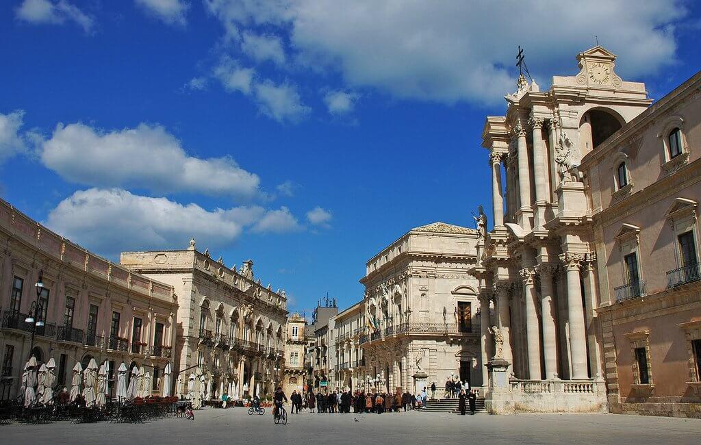 Piazza Duomo em Siracusa