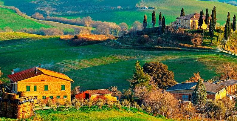 Região da Toscana na Itália