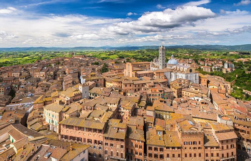 Cidade de Siena na Toscana