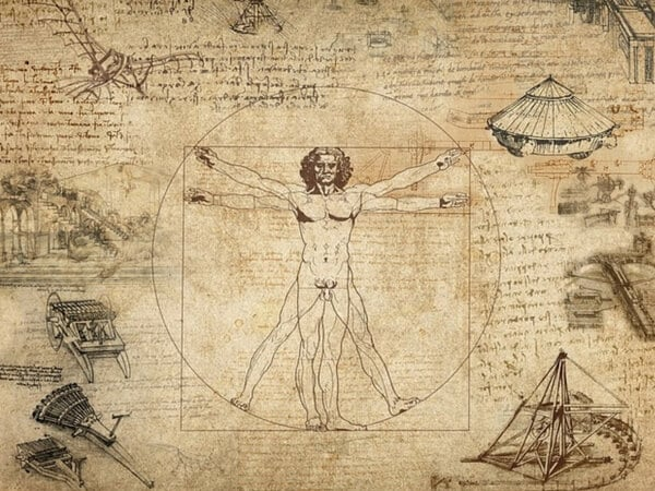 Famoso desenho de Leonardo Da Vinci