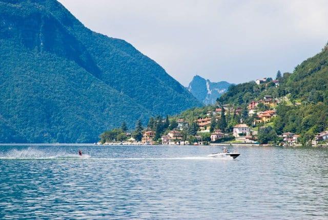 Passeio por Lugano Lake