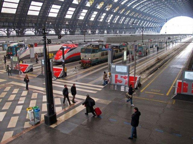 Viagem de trem de Verona a Milão