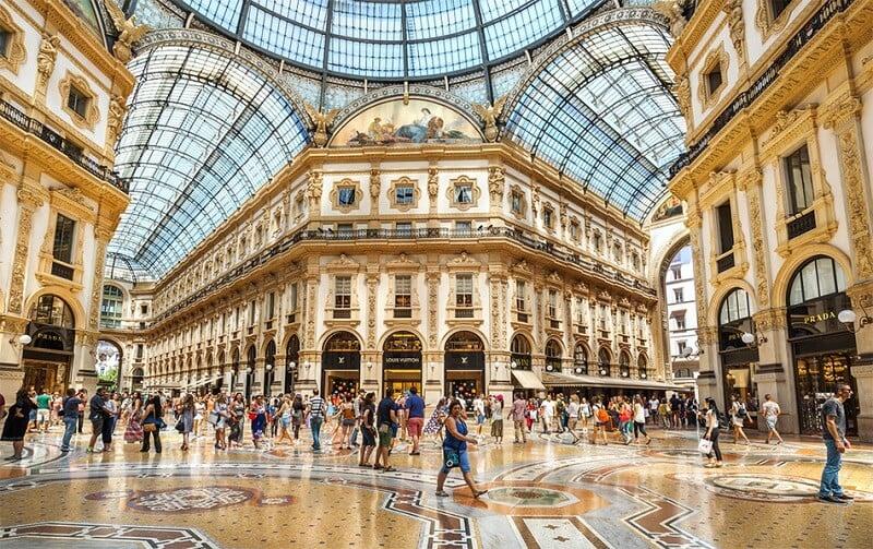 Galerias Vittorio Emanuele em Milão na Itália