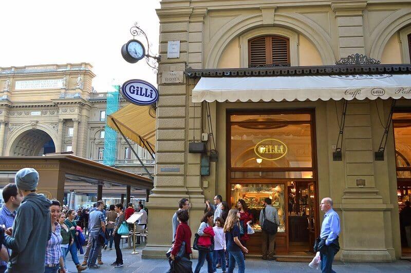 Gilli Café em Florença na Toscana