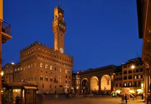 Piazza della Signoria em Florença na Toscana