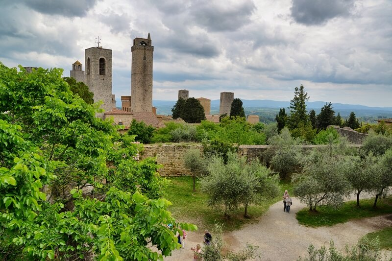 Rocca di Montestaffoli em San Gimignano