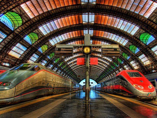 Viagem de trem de Milão a Nice