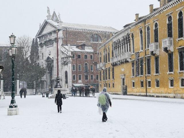 Cidades com neve na Itália
