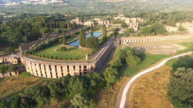Villa Adriana vista do alto