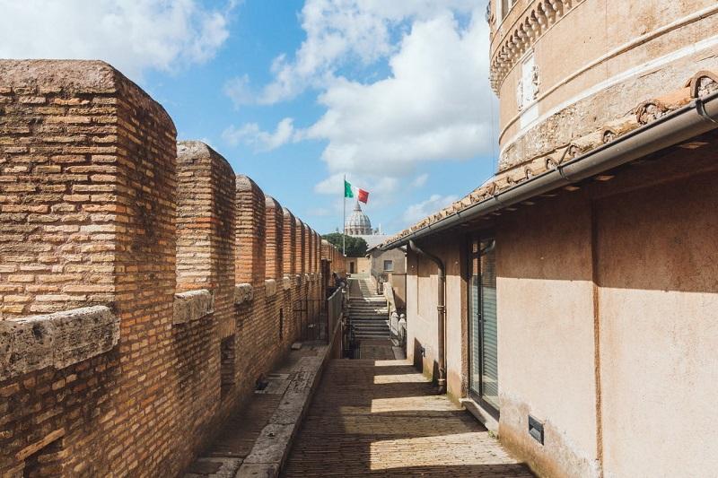 Terraço do Castelo Sant'Angelo em Roma
