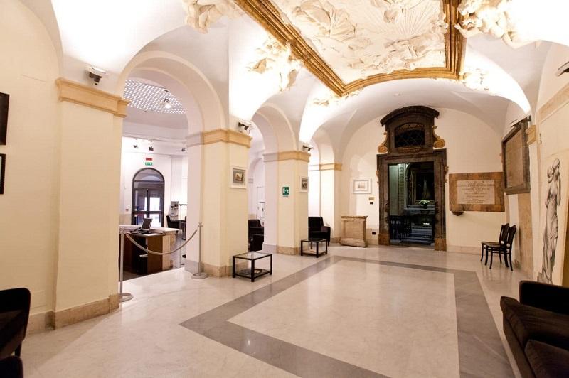 Interior do Palácio de Santa Chiara em Roma