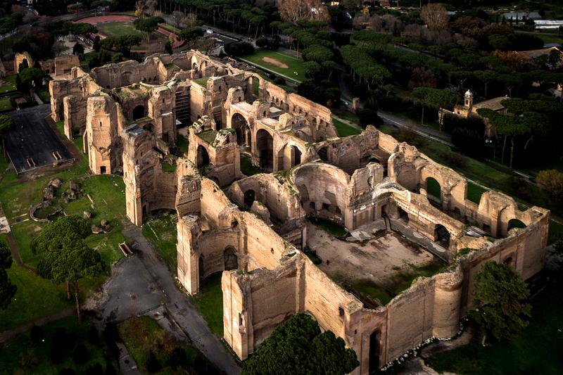 Planta das Termas de Caracalla em Roma