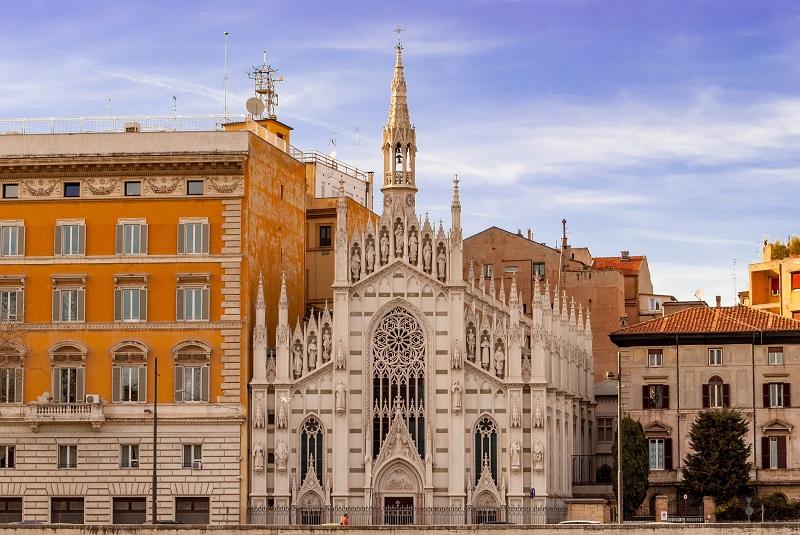 Igreja do Sufrágio nos arredores do Vaticano em Roma