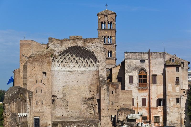 Ruínas no Palatino em Roma