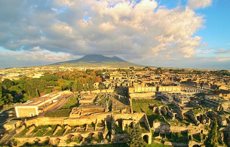 Vista de Pompeia