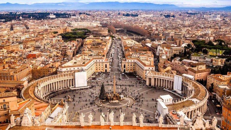 Vista do Vaticano em Roma