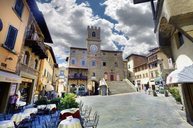 Centro da cidade de Cortona