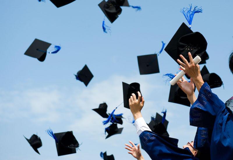 Estudantes se formando