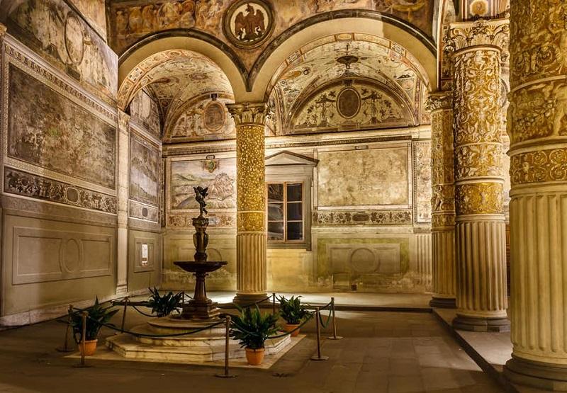 Interior do Palazzo Vecchio em Florença