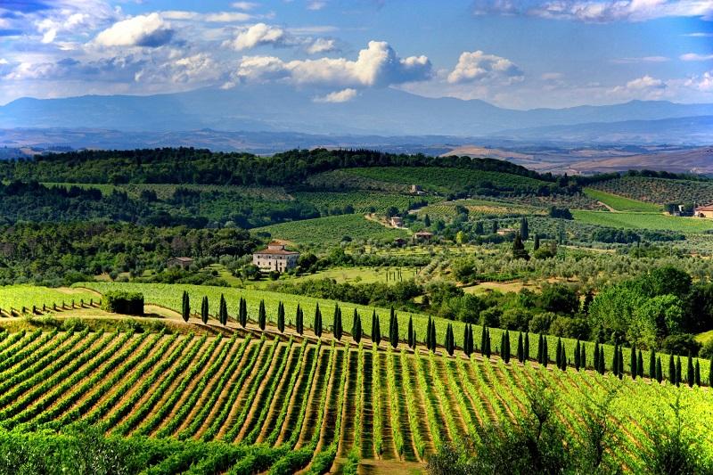 Vista de Chianti na Itália