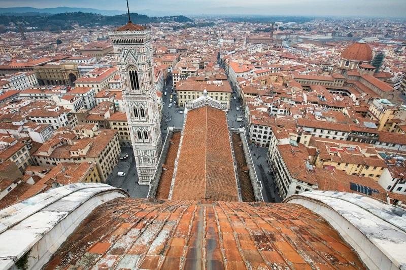 Vista que se tem da cúpula de Brunelleschi