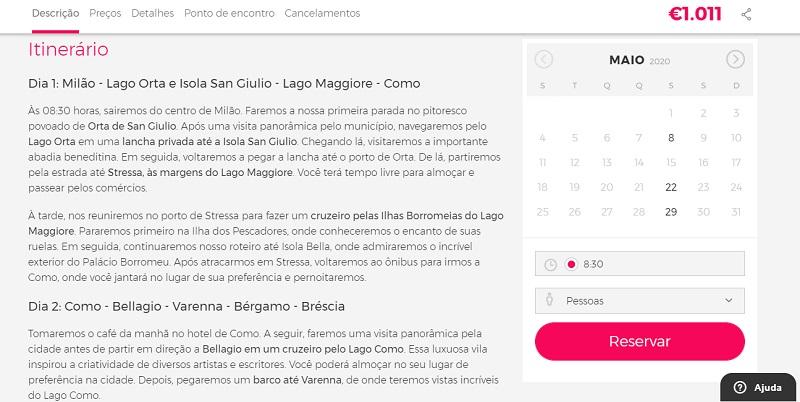 Civitatis para ingressos para excursão Lagos do Norte da Itália em 4 dias saindo de Milão