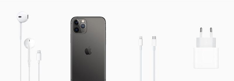 iPhone 11 Pro e acessórios que vêm na caixa
