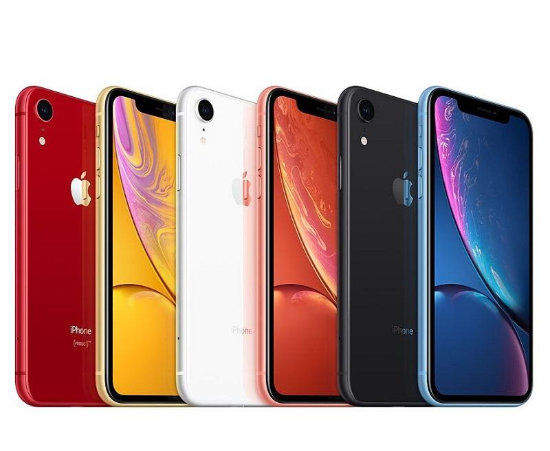 iPhone XR em diferentes cores