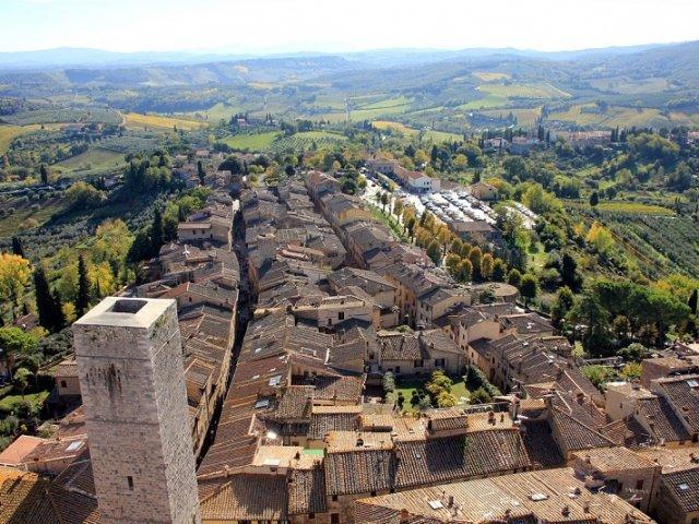 Como se locomover e andar em San Gimignano