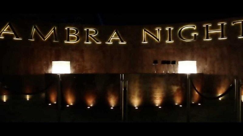 Entrada da balada Ambra Night em Sardenha