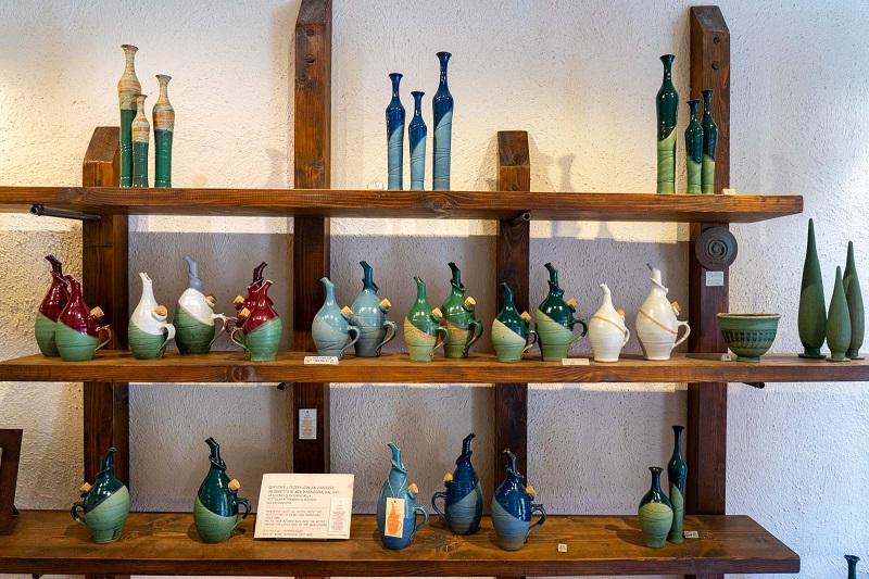 Cerâmicas para venda na loja Balducci em San Gimignano