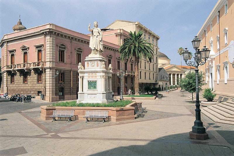 Centro histórico de Oristano em Sardenha