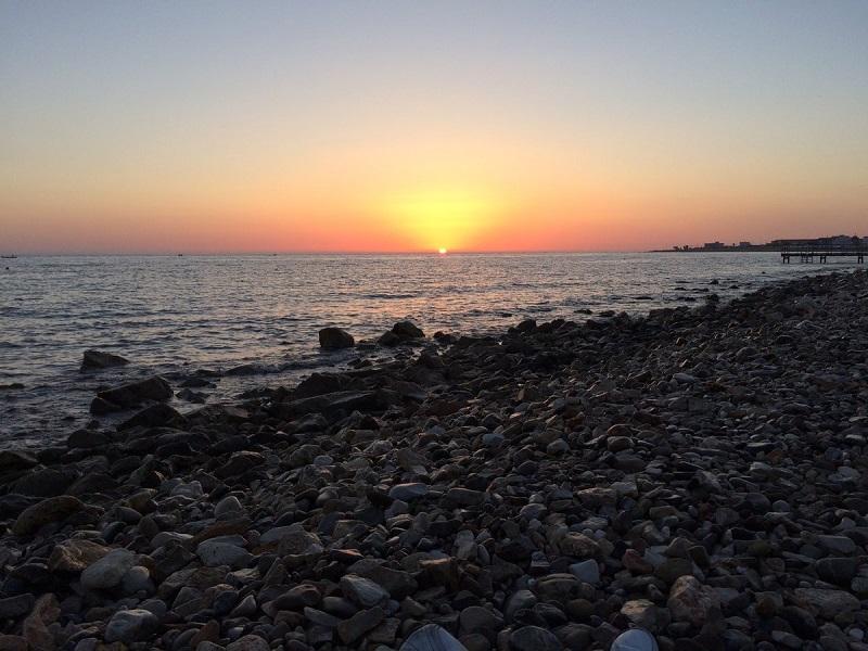 Pôr do sol em Bari